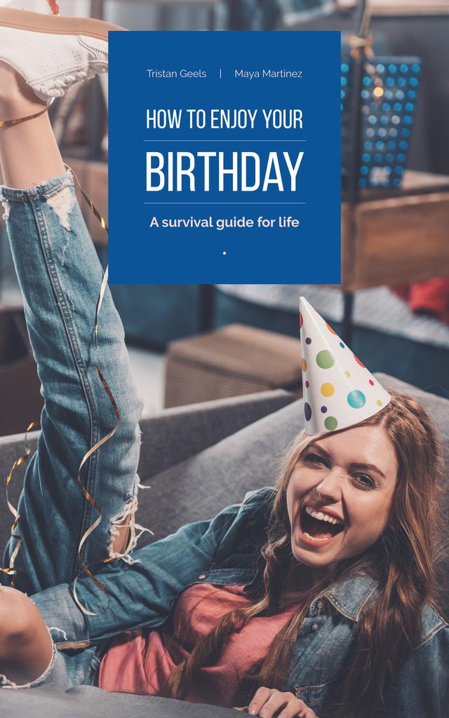 Happy Girl Celebrating Her Birthday — ein Design erstellen