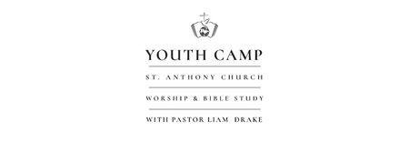 Youth religion camp of St. Anthony Church Facebook cover Modelo de Design