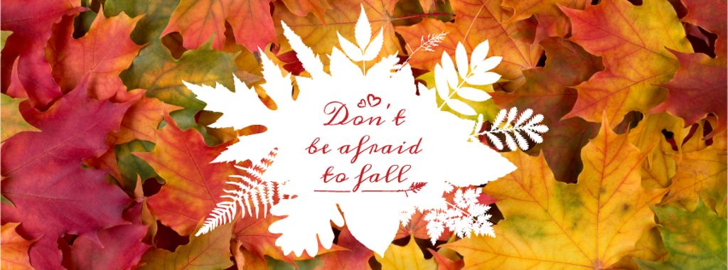 Don't be afraid to fall inscription on floral background — Créer un visuel
