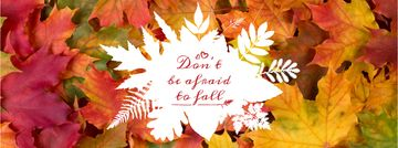 Don't be afraid to fall inscription on floral background