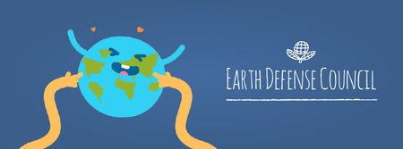 Plantilla de diseño de Hands tickling Earth Facebook Video cover