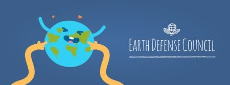 Ontwerpsjabloon van Facebook Video cover van Hands tickling Earth
