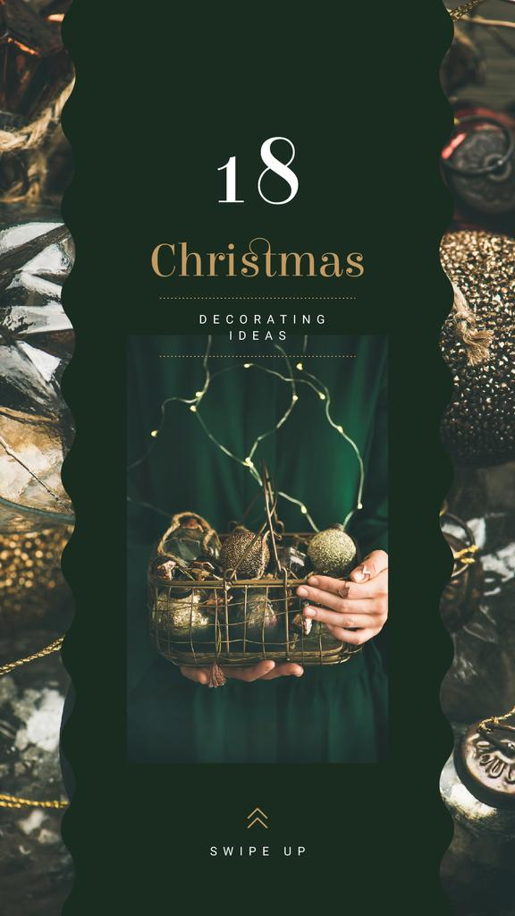 Hands holding Christmas baubles — Create a Design