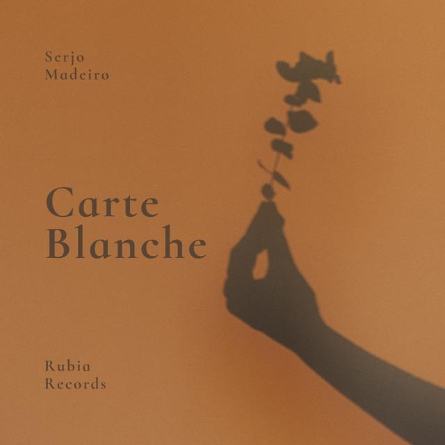 Shadow of Hand holding Plant Album Cover Modelo de Design