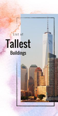 Plantilla de diseño de City with tallest Buildings Graphic