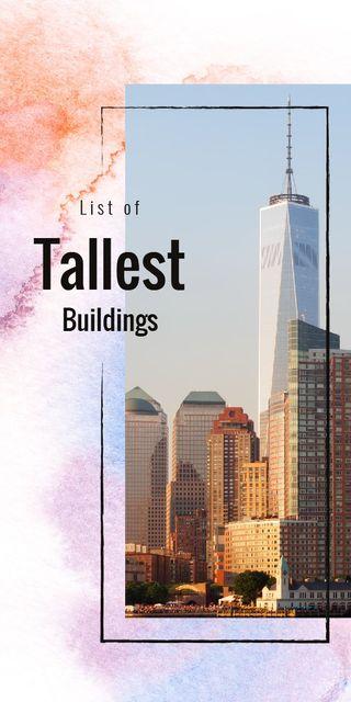 Plantilla de diseño de City with tallest Buildings Graphic