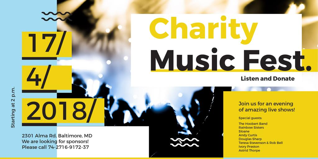 Charity Music Fest — Créer un visuel