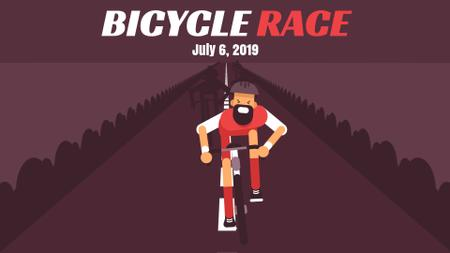 Template di design Bicycle Race Announcement Cyclist on Road Full HD video