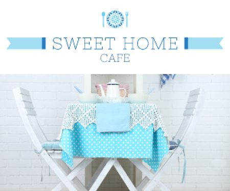Sweet home cafe poster Medium Rectangle Tasarım Şablonu