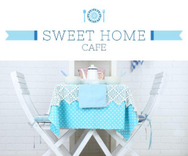 Plantilla de diseño de Sweet home cafe poster Medium Rectangle