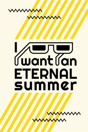 Szablon projektu Summer Inspiration Sunglasses on Graphic Background Tumblr