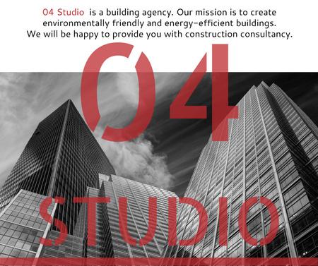 Modèle de visuel Building Agency Ad Modern Skyscrapers - Facebook