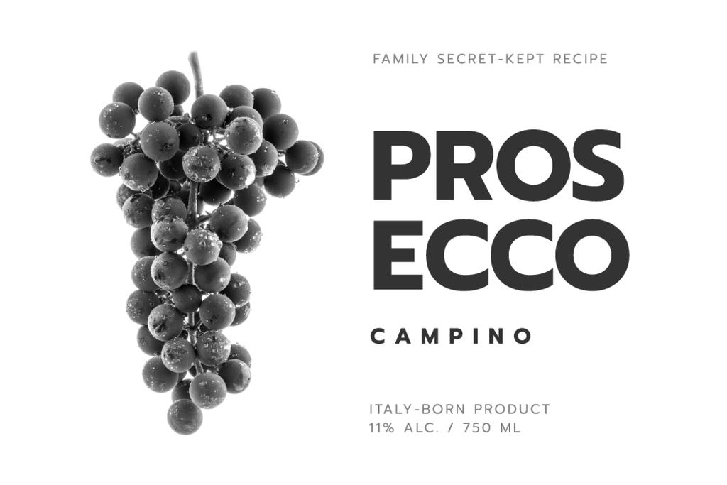 Wine ad with grapes in black — Create a Design