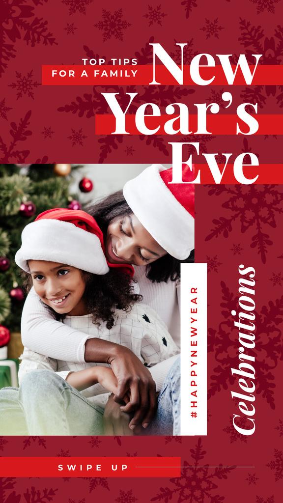 Family celebrating Christmas — Créer un visuel