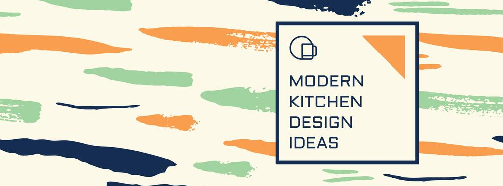 Kitchen Design Ad with Colorful Smudges — Crear un diseño