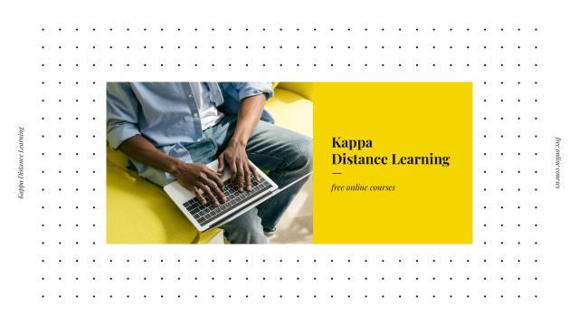 Template di design Online Learning with Man Typing on Laptop Youtube