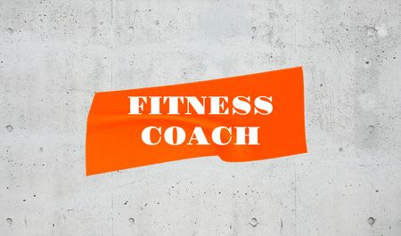 Fitness Coach services ad Business card Modelo de Design