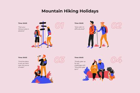 Szablon projektu Couple Hiking in mountains Storyboard
