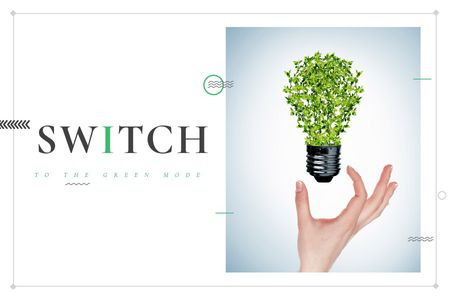 Plantilla de diseño de Switch to the green mode Gift Certificate