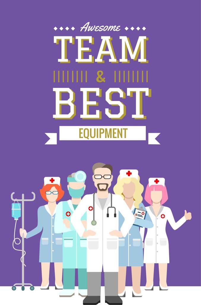 Medical center advertisement poster — Créer un visuel