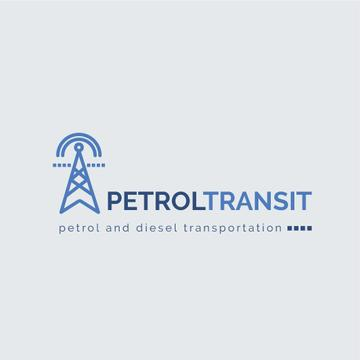 Petrol Transportation Industry Power Lines Icon