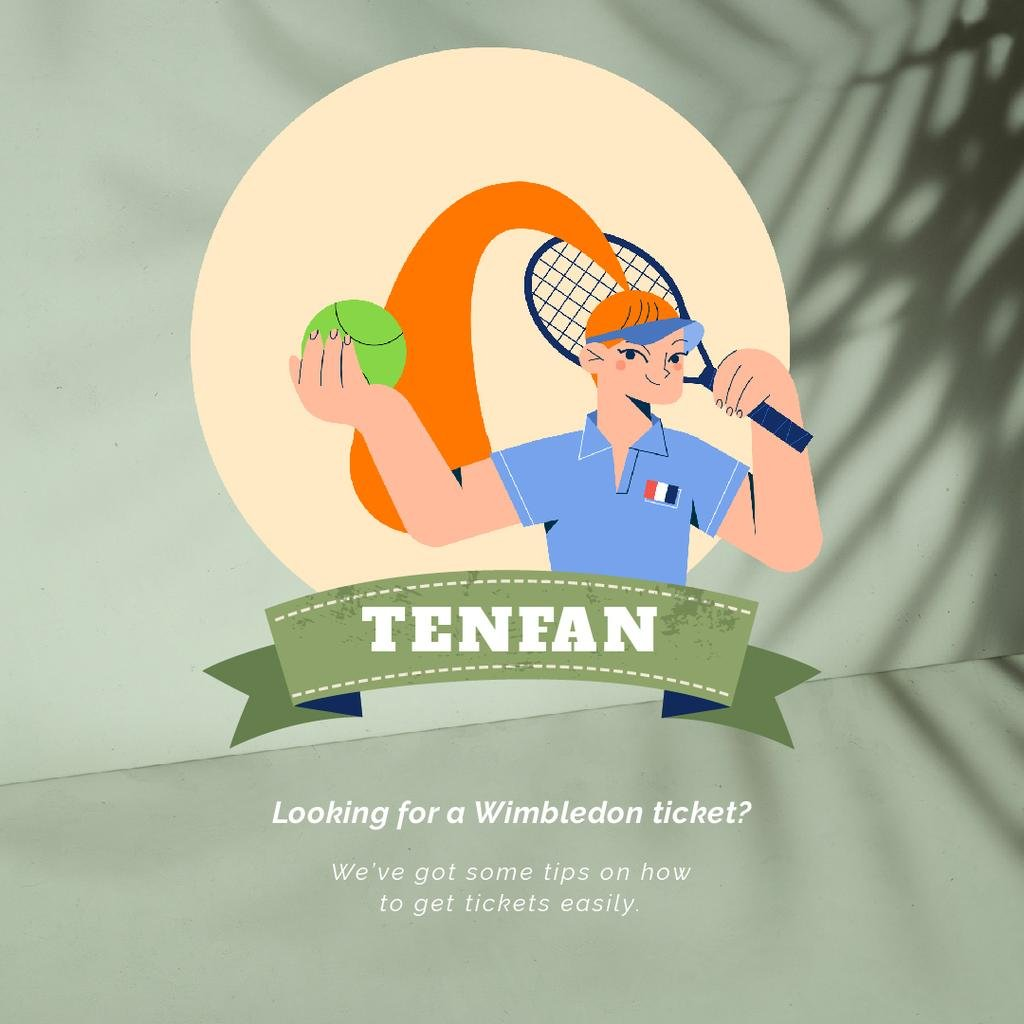 Wimbledon Tickets Offer Sportswoman | Square Video Template — Modelo de projeto