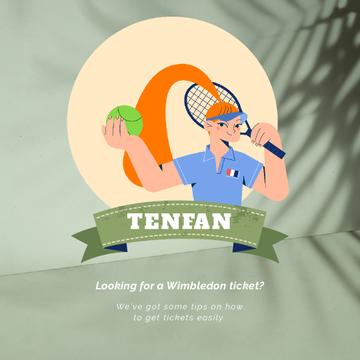 Tennis Championship Invitation with Sportswoman Animation
