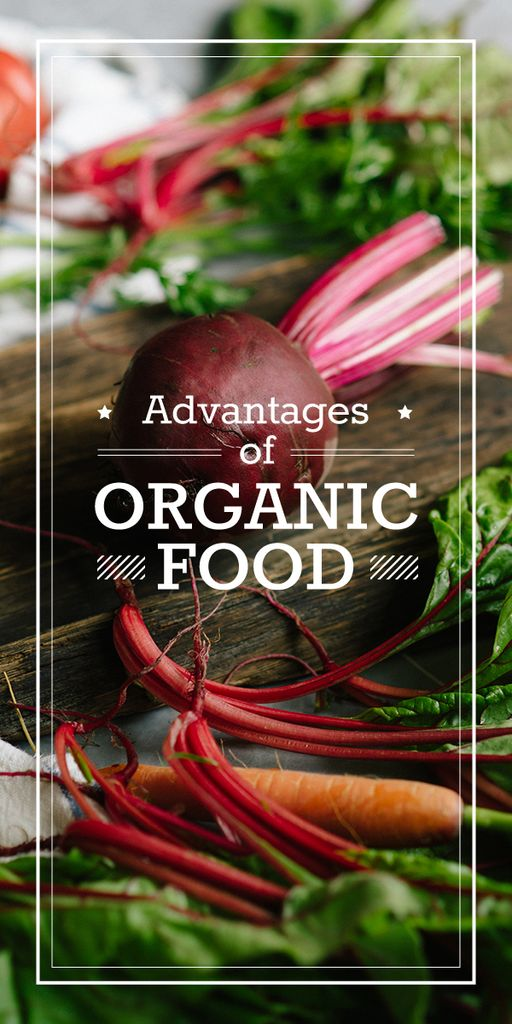 advantages of organic food poster — Maak een ontwerp
