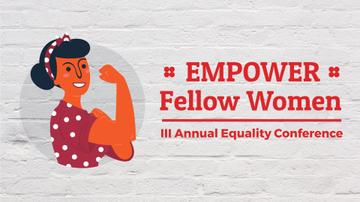 Equality Conference Strong Woman Showing Biceps