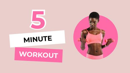 Woman performing 5 minute Workout Youtube Thumbnail Modelo de Design