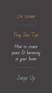 Feng Shui live stream announcement