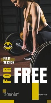 Gym Offer Woman Lifting Barbell | Blog Graphic Template