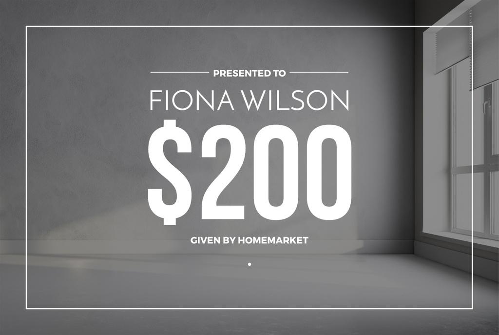 Home Design Studio Ad with Room in White — ein Design erstellen