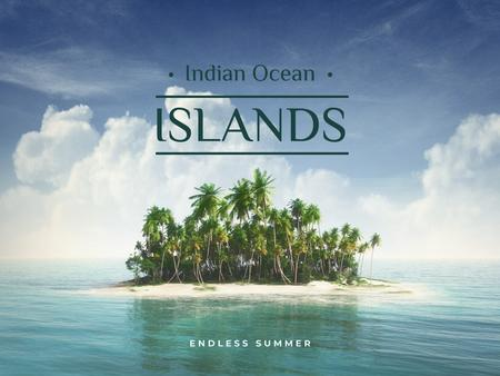 Island with Palms in Ocean Presentation – шаблон для дизайна