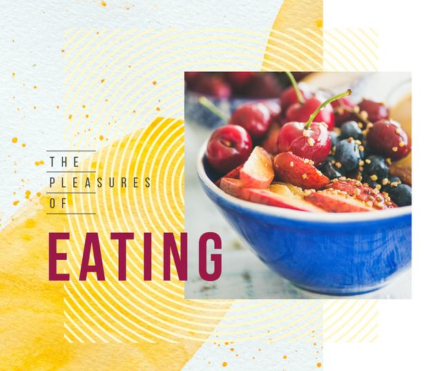 Ontwerpsjabloon van Facebook van Healthy meal with berries