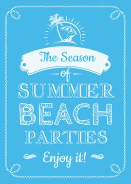 Summer beach parties Annoucement