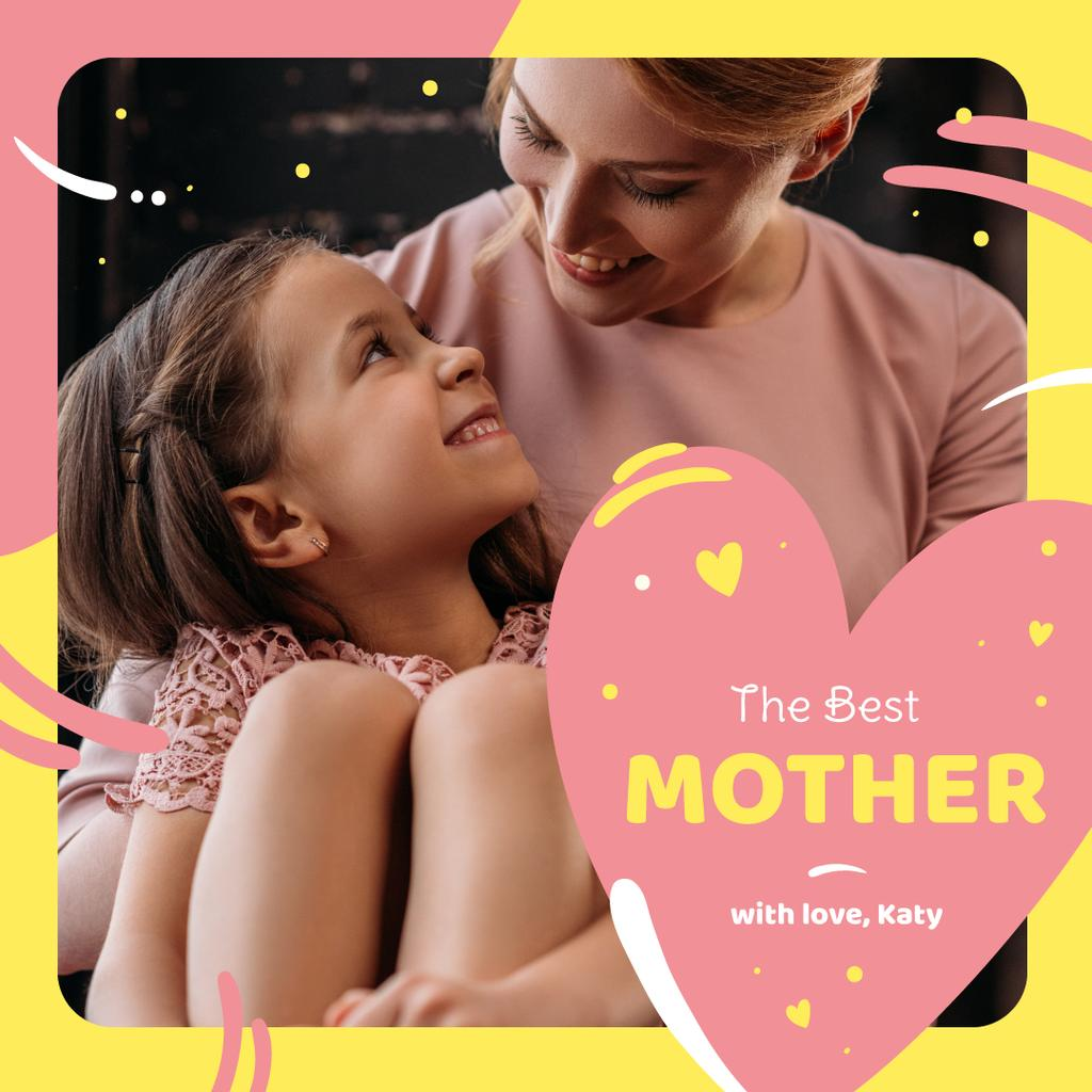 Happy mother with her daughter on Mother's Day — Создать дизайн