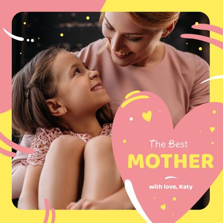 Happy mother with her daughter on Mother's Day Instagramデザインテンプレート