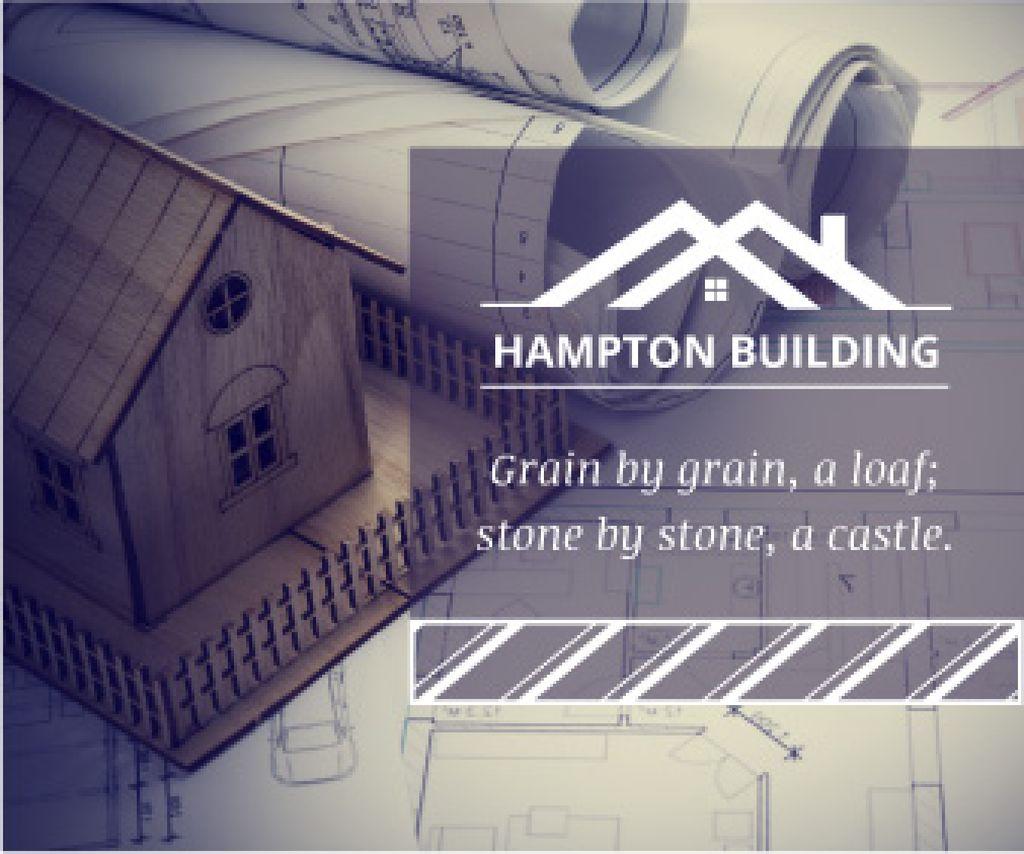 Hampton building poster — Modelo de projeto