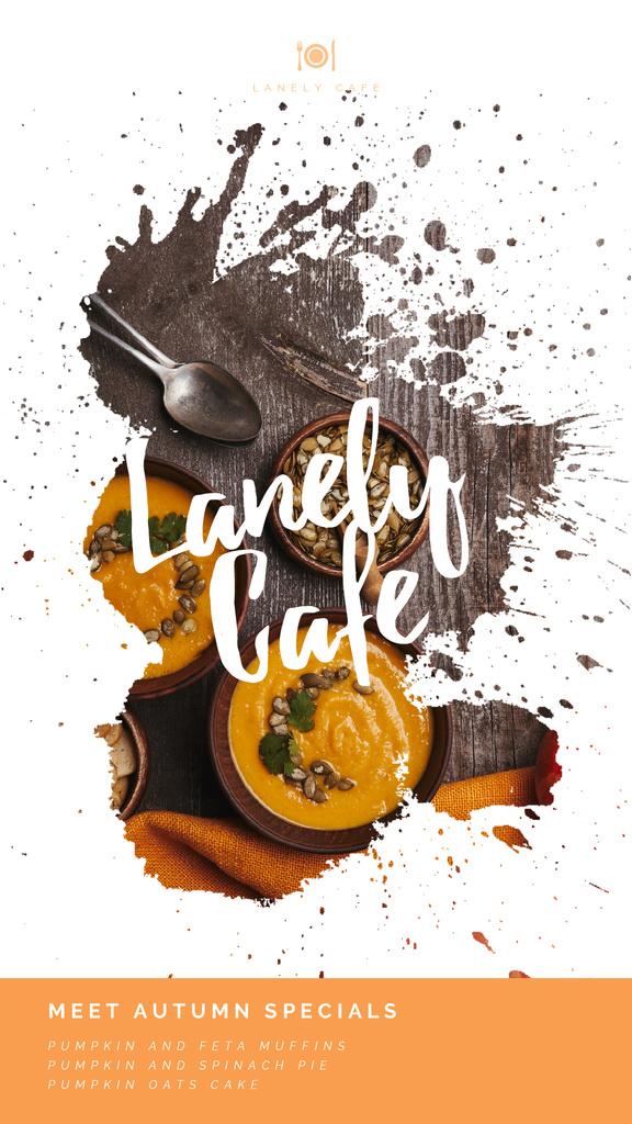 Autumn Menu Bowls with Pumpkin Soup — Crea un design