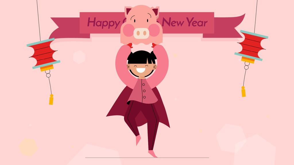 Happy Chinese Pig New Year — Créer un visuel