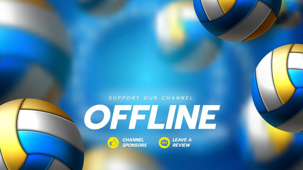 Sports Game Stream with Volleyballs — ein Design erstellen