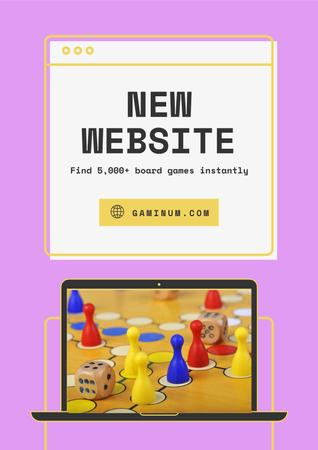 Template di design Website Ad with Board Game Poster