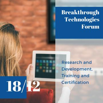 Breakthrough technologies forum advertisement poster