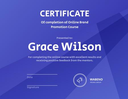 Ontwerpsjabloon van Certificate van Online Business Program Completion diploma