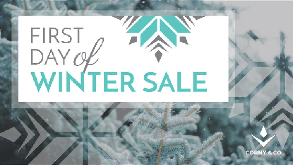 first day of winter sale banner — Create a Design