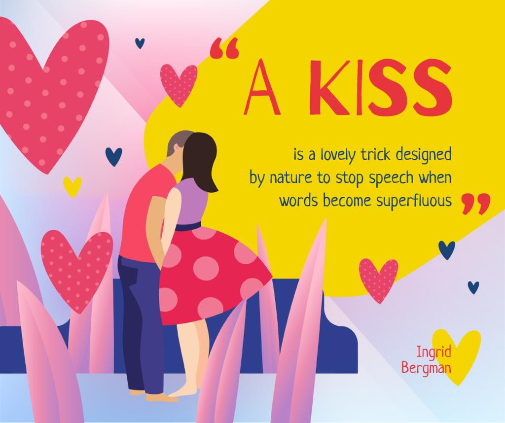 Kissing Loving Couple on Valentine's Day — Create a Design