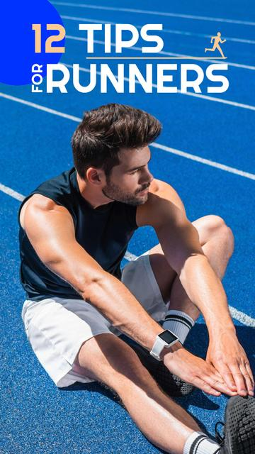 Man Training in the Stadium Instagram Video Story Modelo de Design