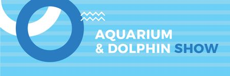 Aquarium & Dolphin show Announcement Email header Modelo de Design