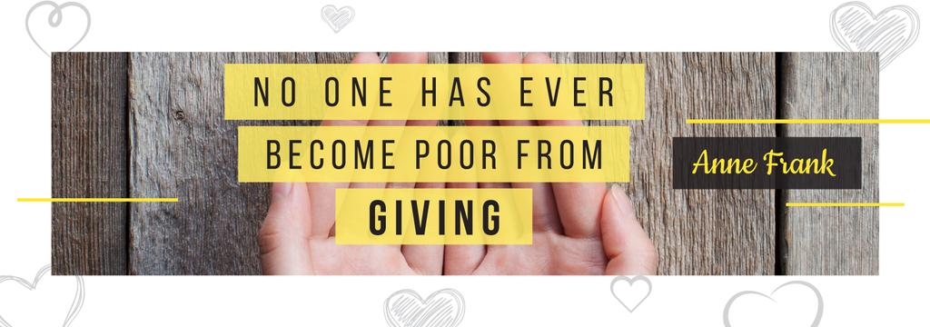 Charity Quote with Open Palms — Crear un diseño